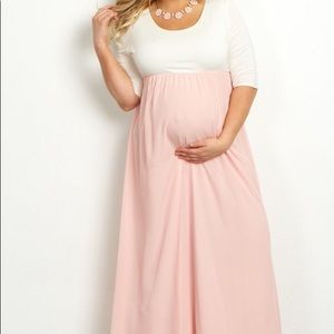 Plus size (2x) PinkBlush maternity dress